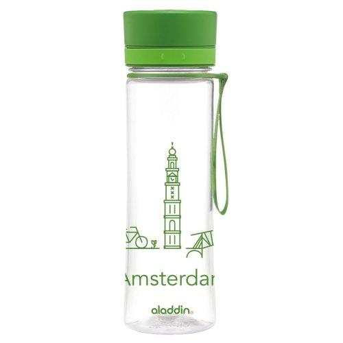 Aladdin Adult City Series Amsterdam 0.6Litre Aveo Water Bottle–Green, 600ml
