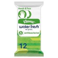 Kleenex Water Fresh Antibacterial Wipes - 12 Wipes