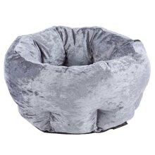 Scruffs Pet Bed Velvet Grey Small Animals Pet Supply Dog Cat Nest Puppy Mat