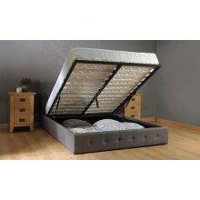 Reuben Fabric Ottoman Storage Bed with Ivy Mattress