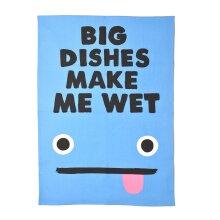 Big Dishes Make Me Wet Novelty Tea Towel