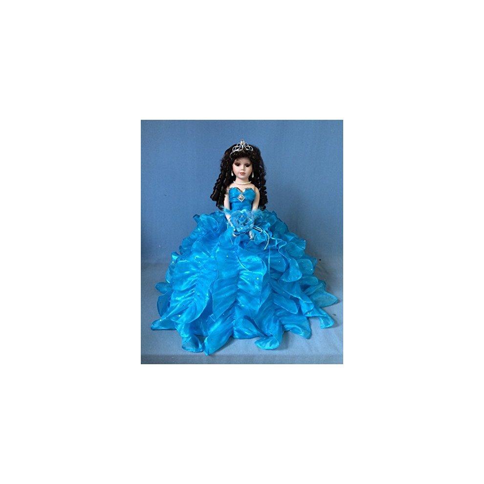 Jmisa 18 Umbrella Porcelain Dolls TURQUIES Quince Anos Lilac Turquoise