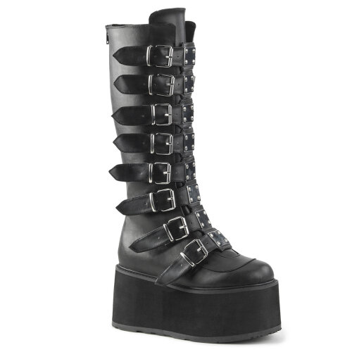 Demonia DAMNED-318 Blk Vegan Leather