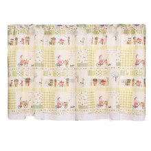 Cute Short Kitchen Curtain Rod Pocket Cafe Curtain Living Room Bedroom Window Drapes, 55x24 inch