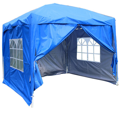3 x 3mGarden Pop Up Gazebo Marquee Patio Canopy Wedding Party Tent- Blue