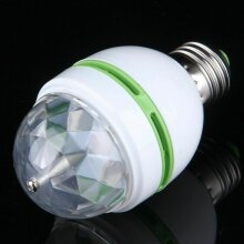 RGB E27 3W LED Crystal Ball Rotating Stage Light Bulbs For Disco Party Xmas Decoration Lamp