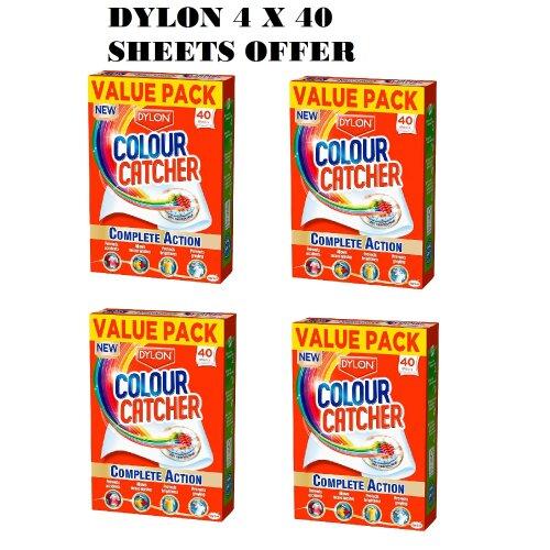 Dylon Colour Catcher Complete Action Laundry Sheets –4 x 40 sheets