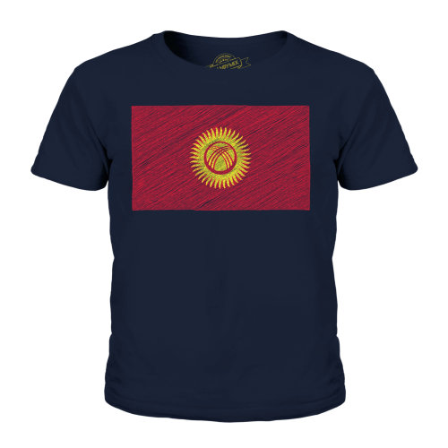 Candymix - Kyrgyzstan Scribble Flag - Unisex Kid's T-Shirt