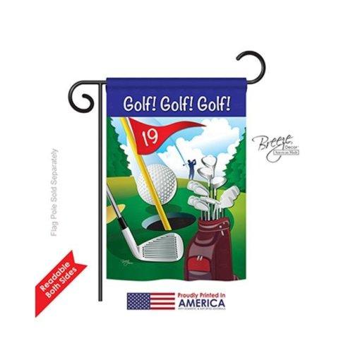 Breeze Decor 59043 Sports Golf , Golf , Golf 2-Sided Impression Garden Flag - 13 x 18.5 in.