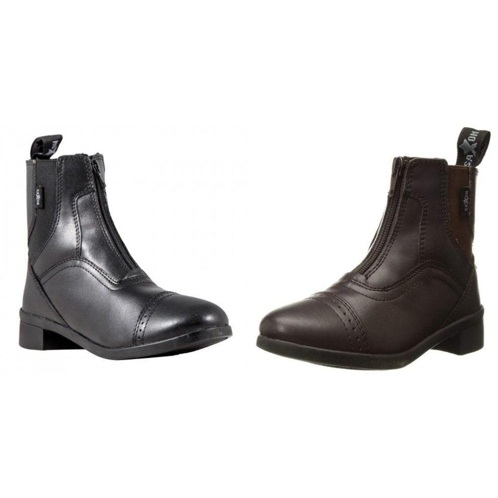 Saxon Childrens Syntovia Zip Paddock Boots