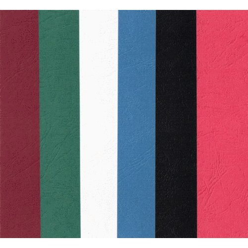 24 X Blank Card Bookmarks. Leather Look Embossed Pattern Card. Red, White, Black, Green, Blue, Burgundy