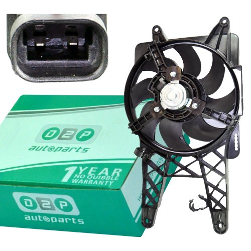 RADIATOR COOLING FAN WITH MOTOR FOR FIAT SEICENTO 0.9 1.0 PETROL (1998-2010)