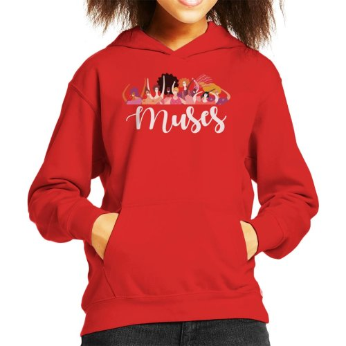 Girl Power Muses Kid's Hooded Sweatshirt
