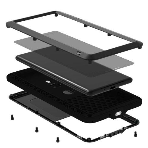 Case Xperia XZ3 Aluminium+Silicone Rainproof + shockproof Powerful LoveMeiBlack