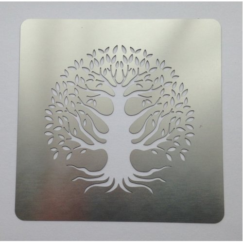 Tree of Life Stainless Steel Stencil Embossing Pyrography 7.5cm x 7.5cm