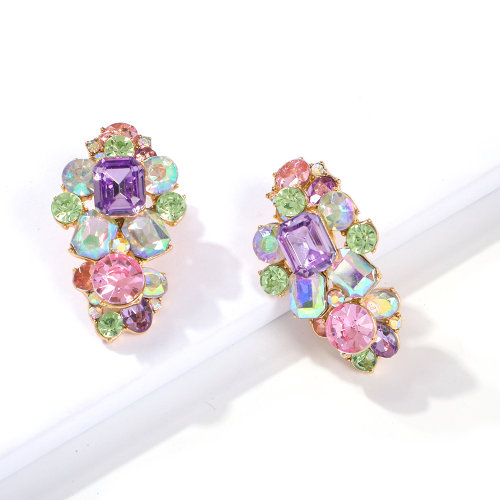 full diamond temperament luxury earrings palace baroque style earrings