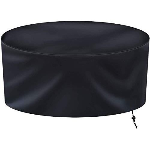 Ankier Garden Furniture Covers - 128x71cm Round Rattan Furniture Covers - Waterproof Windproof and Anti-UV Heavy Duty 420D Oxford Outdoor Patio Furn