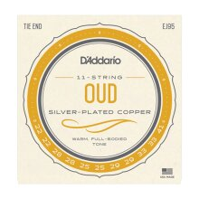 Oud Strings D'Addario EJ95 11 String Set daeBF#C# Tuning Nylon & Silver Plated Copper Tie End