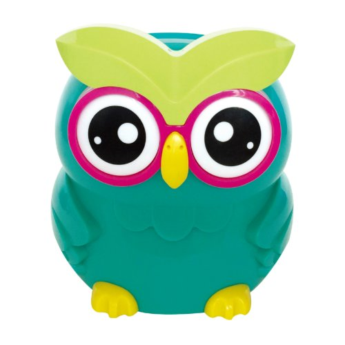 (Teal) UK STERLING COIN SMART PIGGY BANK DIGITAL COIN BANK AUTOMATICAL COUNTING LCD SCREEN MONEY BOX JAR OWL SHAPE