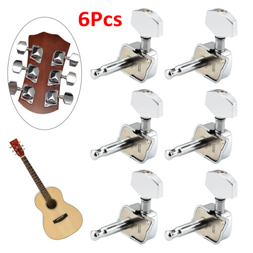 6Pcs Acoustic Guitar Tuning Pegs Tuners Machine Heads Electric Part