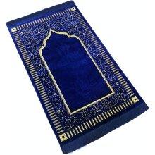 Mihrab Style Velvet Prayer Rug (540g) | Muslim Prayer Mat -Janamaz