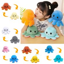Reversible Octopus Plush Toy | Double-Sided Flip Octopus Toy