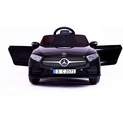 RICCO® 12V 4A Two Motors Mercedes Benz CLS350 Licensed Battery Powered Kids Electric Ride On Toy Car BLACK