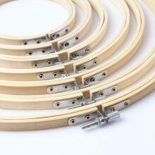 Mini bamboo wood embroidery cross stitch hoop for kit ring embroidery frame