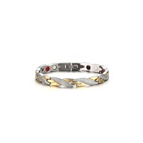 Sacnite Magnetic Health Energy Bracelet - Gold & Silver