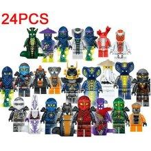 Set Of 24 Pcs Ninjago Mini Figures
