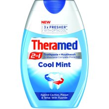 Theramed 2 In 1 Toothpaste & Mouthwash 75ml, Cool Mint