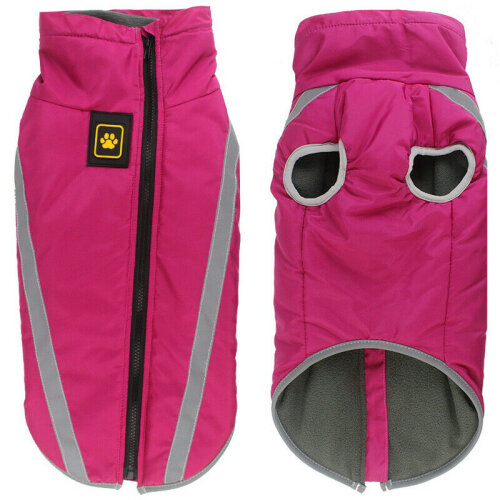 (Rose Red, 2XL) Pet Dog Waterproof Padded Jacket Vest Coat Reflective Waistcoat Raincoat
