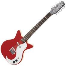 Danelectro DC59 12 String Guitar, Red