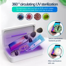 Portable UV Light Smart Phone Sterilizer Qi Wireless Charger Jewelry Sanitizer Disinfection Box