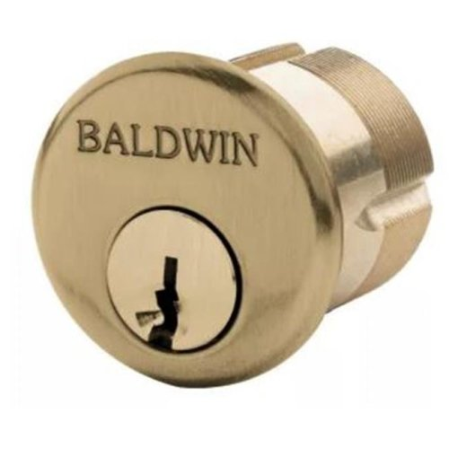 Baldwin 8326033 1.625 in. Mortise Cylinder, Vintage Brass