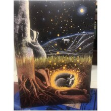 Upon the Next Full Moon Greetings card by Hannah willow