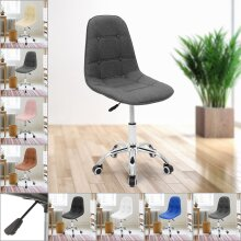 Office Chair Swivel PU Leather Cushioned