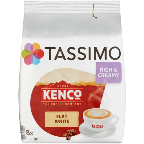 Tassimo Kenco Flat White Coffee Pods Pack of 5 Total 80 pods 40 servings