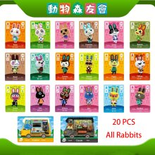 All 20PCS Rabbits Animal Crossing New Leaf Amiibo Cards for Nintendo Switch