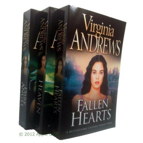 Virginia Andrews 3 Books Casteel Series Heaven Dark Angel Fallen Hearts