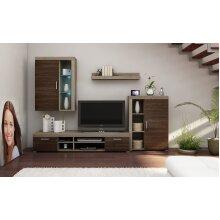 LIVING ROOM SET WALL SHELF TV STAND FLOATING DISPLAY CABINET LED LIGHT