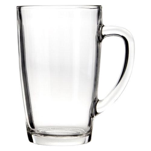 Premier housewares Clear Tall Glass Mugs - Set of 4