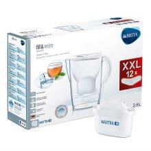 BRITA Marella MAXTRA+ Plus 2.4L Water Filter Jug + 12 Month Cartridges Year Pack
