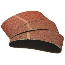 Wolfcraft 1919000 75 x 533mm Sanding Belts with 24-Grit