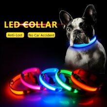 Battery Operated LED Flashing Luminous Safety Night Light Up Dog Pet Collar