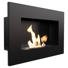 Wall hanging biofireplaces DELTA black with TÜV certified