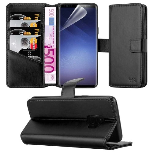 For Galaxy S9 Combines 3 Card Leather Wallet Case