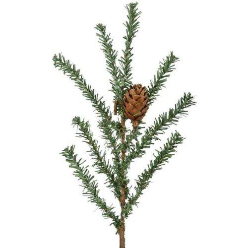 Vickerman B803928 Carmel Pine Dura-Lit Burlap Base Christmas Tree with Clear Lights - 42 in.