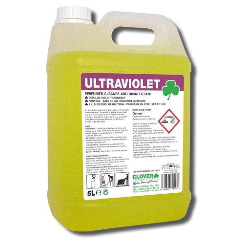 Ultraviolet - Clover Chemicals Violet Perfumed Disinfectant Cleaner 5L