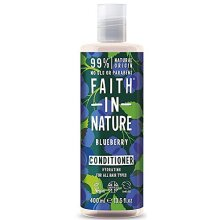 Faith in Nature Natural Blueberry Conditioner, Hydrating Vegan and Cruelty Free, Parabens and SLS Free, for All Hair Types, 400 ml